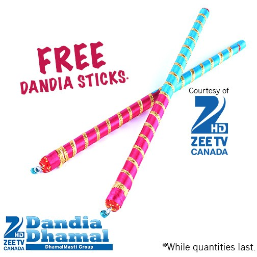 Free Dandia Sticks courtesy of Zee TV Canada